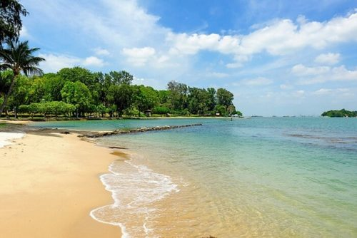 Lazarus island and beaches in singapore