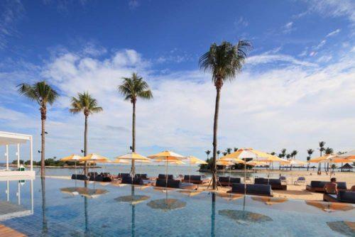 Tanjong beach poolside