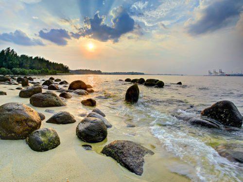 Sunset at punggol beach