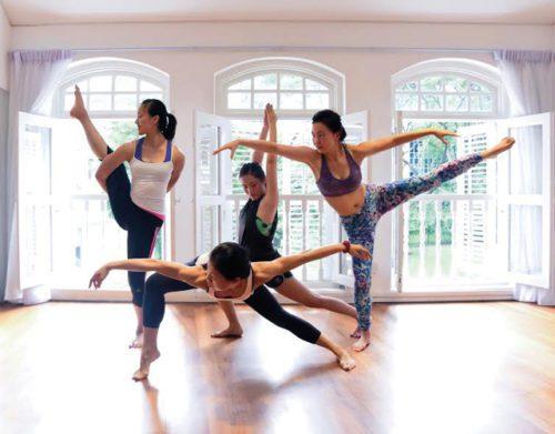 Comfortable yoga studios in singapore