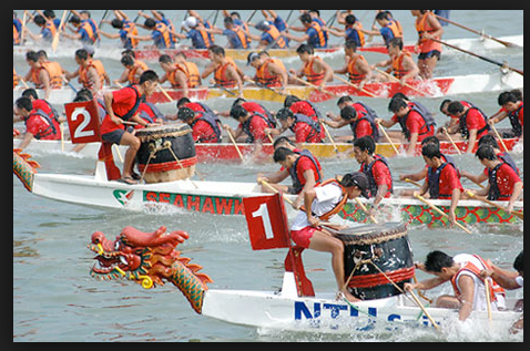 Dragon boat festival singapore decorating