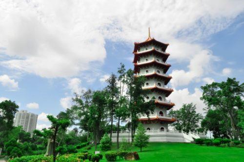 Chinese garden green garden