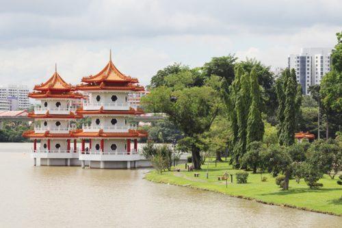 Chinese garden park