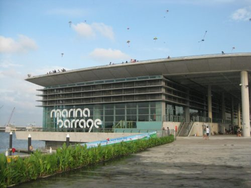 Marina barrage entrance