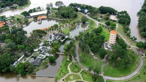 Aireal of chinese garden singapore