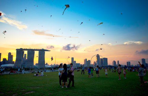 Marina barrage kites