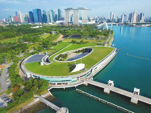 Marina barrage skyline