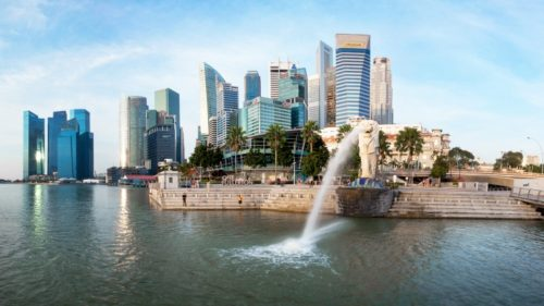 Whole area of merlion park