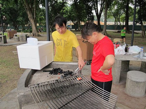 East coast park barbecuing