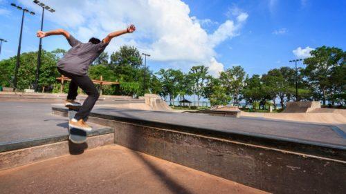 Skate board at east coast park