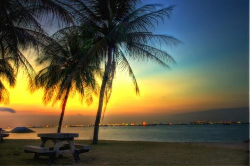 Sunset at east coast park