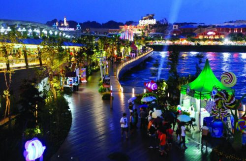 Night life at sentosa island