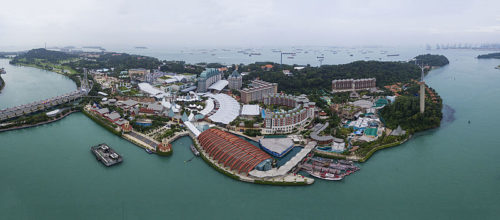 Whole area of sentosa island