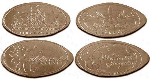 Singapore pressed pennies