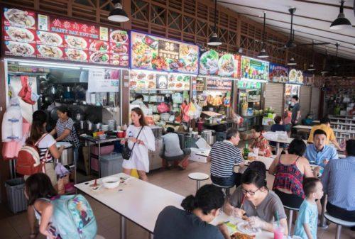 Hawker centre in singapore
