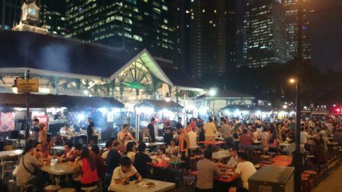 Hawker centre singapore lau pa sat steve