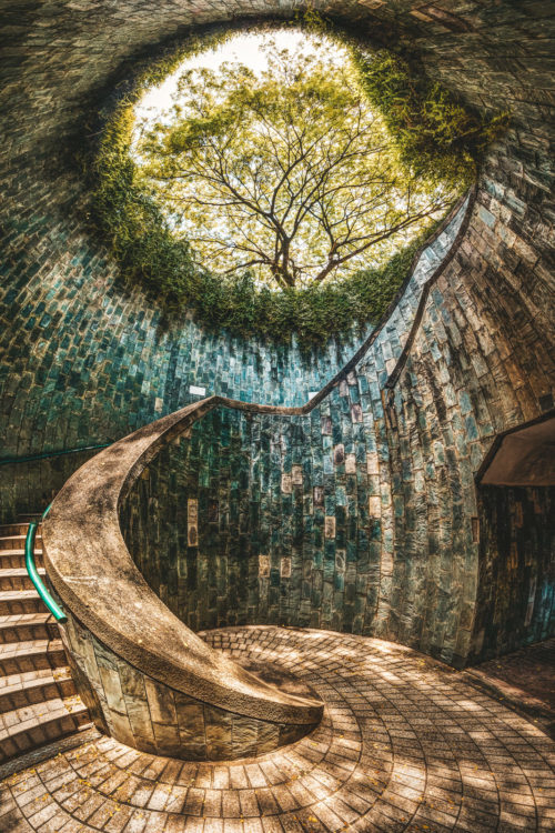 Inside the fort canning park