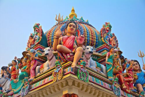 Artistic sri mariamman temple